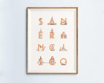 San Francisco Print 18x24