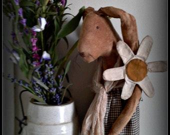 "Daisy Prim Rabbit 12"" Stump Doll e-pattern"