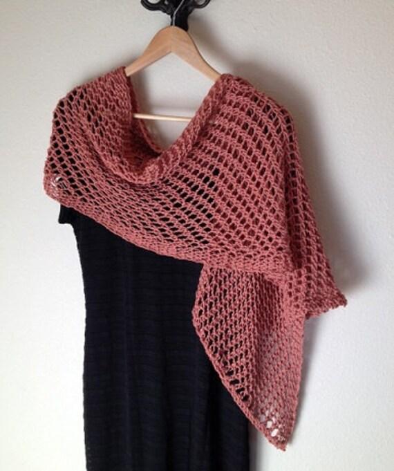 Loom Knit Shawl Pattern : Lattice Stitch Shawl Loom Knit Pattern by DaynaScolesDesigns