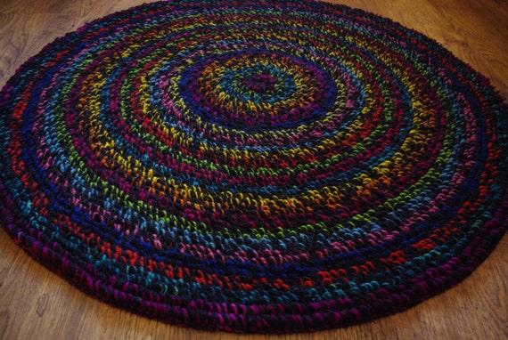 Round Rug 42 106 Cm Shaggy Rug Rugs Rug Area