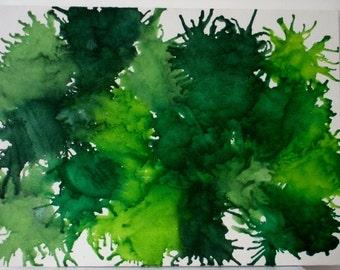 Melted crayon art Mean Green twenty one