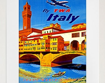 Italian Poster Wall Art Italy Travel Print (TR62)