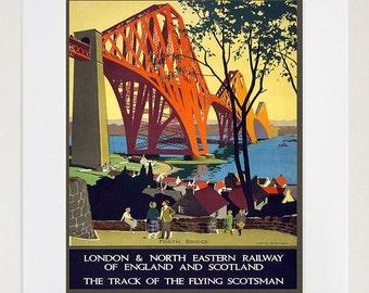 Scotland Wall Art Print Scottish Vintage Travel Poster (TR75)