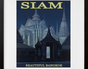 Thailand Art Print Thai Travel Poster Bangkok Home Decor (ZT277)