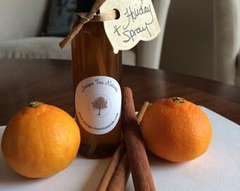 Holiday room spray/all natural linen and refresh spray/aromatherapy spray/ perfume free spray
