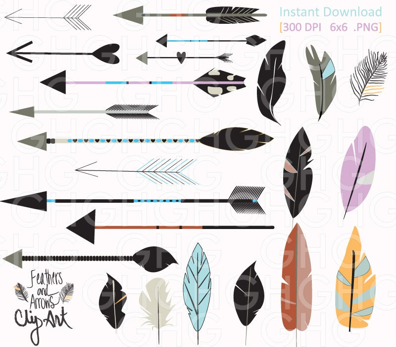 free feathered arrow clip art - photo #21