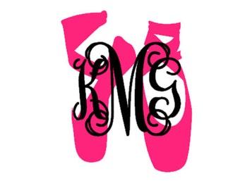 Two color Ballet monogram