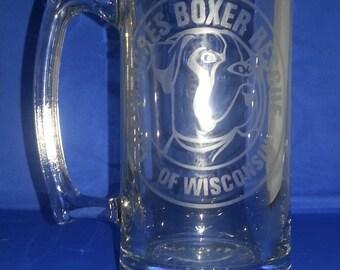 Laser Etched Customized Beer Mug