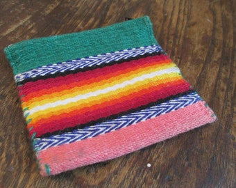 Vintage 1990's Bright Southwestern Small Coin/Change Purse