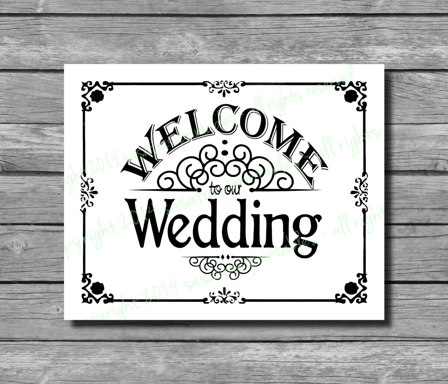 Welcome To Our Wedding Wedding Sign DIY Download And Print