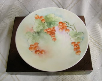 Royal Austria O&E.G.Handpainted cabinet plate with orange longan berries