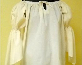 RENAISSANCE COSTUME SHIRT Pirate Peasant Wench Civil War Top 100% Cotton Muslin or Poplin Blend