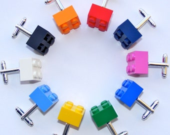 LEGO Brick Cufflinks - 16 Funky Colours