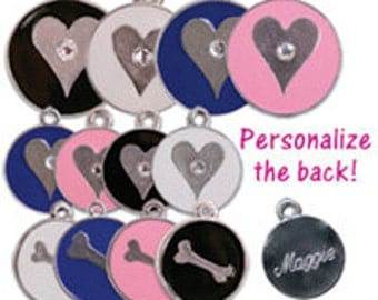 Small Pink Signature Pet ID Tag with Split Ring