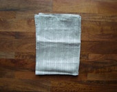 Linen Dish Towel || Natural and Ivory Squiggle