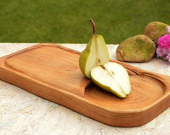 Birthday Gift Wooden cutting board with juice groove Wooden salver Chopping board Recycled wood cutting board Woodwork Gift For Husband Wood