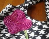 Pink Peony cotton purse bag