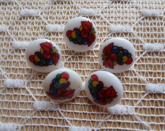 5 Vintage Balloon Buttons