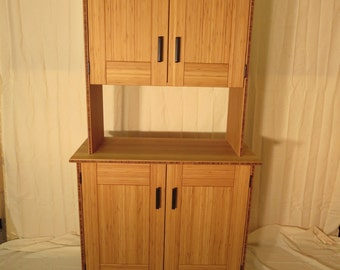 Bamboo Hutch with all natural, hand rubbed oil finish