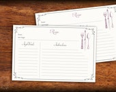 Set of 10 Recipe Cards 4x...