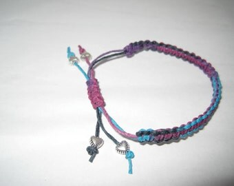 Macrame Hemp Bracelet Adjustable!