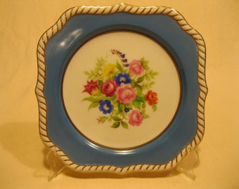 """Noritake collector plate Floral pattern 8"""" square"""