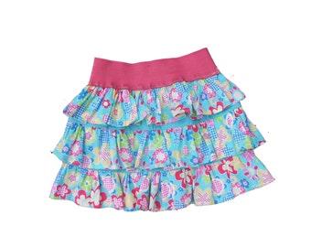PDF Girls Ruffle Skirt Pattern, Girls Skirt Pattern, pdf Sewing Pattern, Toddler Skirt Pattern, Ruffle Skirt Pattern