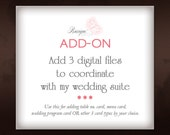 ADD ON 3 Digital Files Coordinating with my Wedding Suite