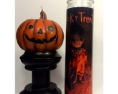 Trick r Treat Sam Horror Prayer Candle In White
