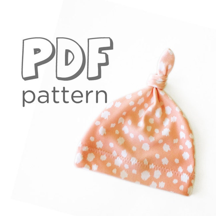 Baby Hat Pdf Pattern Baby Jersey Knot Hat Pattern By