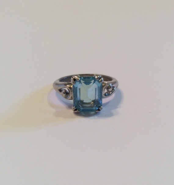 Vintage Avon Blue Topaz Ring