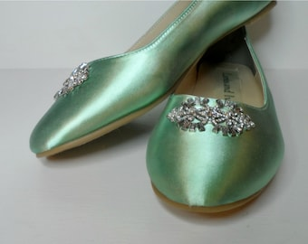Ballet Flats, Wedding Flats, Bridal Ballet Slippers, Ballet Slippers With Rhinestones