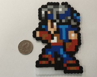 Final Fantasy VI Locke Cole in battle pose perler bead sprite