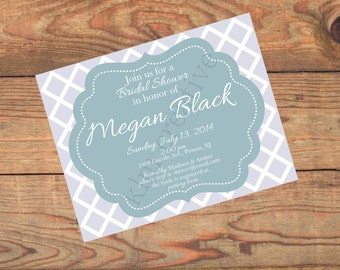 Diamond Postcard Invitations