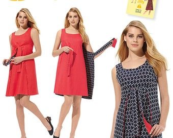 Misses' Jiffy Reversible Wrap Dress Simplicity Pattern 1356