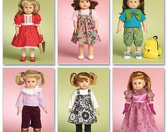 """Doll Clothes for 18"""" Doll McCall's Pattern M5554"""