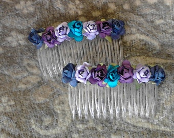 Purple Berries Hair combs   Hair accessories fashion combs