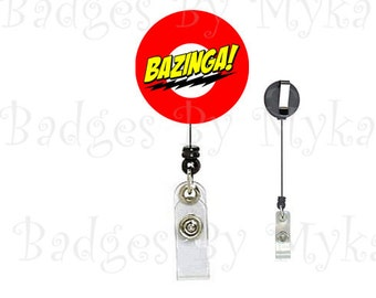 Retractable ID Badge Holder - Bazinga
