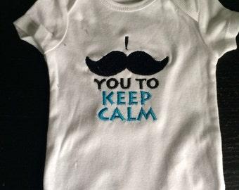 SALE 40% OFF- Cute Baby Boys Clothes-Mustache Shirt- Mustache Baby-Baby Clothing-Funny Baby Clothes-Funny Bodysuit