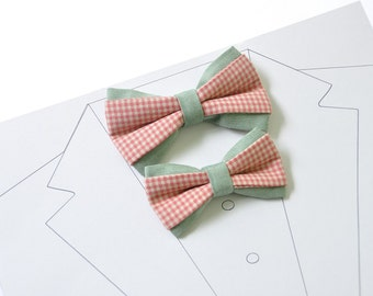 Green Dad Son Matching Bow Ties. Red Father Son Bow Tie. Checkered Bow Ties. Wedding bow tie. Back to school