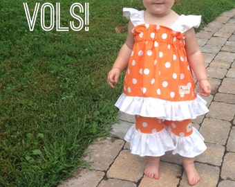 Flutter Tunic/ Ruffle Capri Set - Gameday Collection - Go Vols
