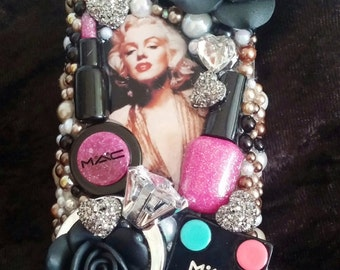 Marilyn Monroe iPhone Samsung Moto LG 5 5s 5c Note 6 7 Ring Handmade Made to Order Cell Phone Case Homemade