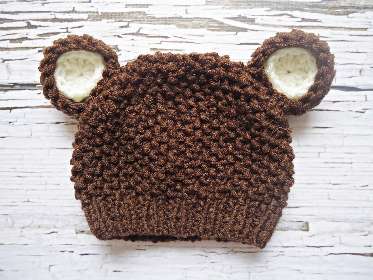Crochet pattern teddy bear hat dancox for crochet teddy bear hat newborn bear hat baby teddy bear hat dt1010fo