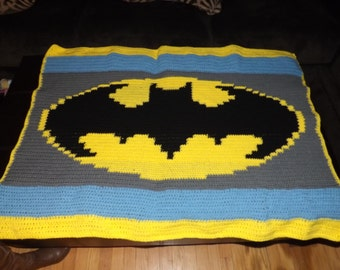 Batman Baby Afghan - PATTERN ONLY