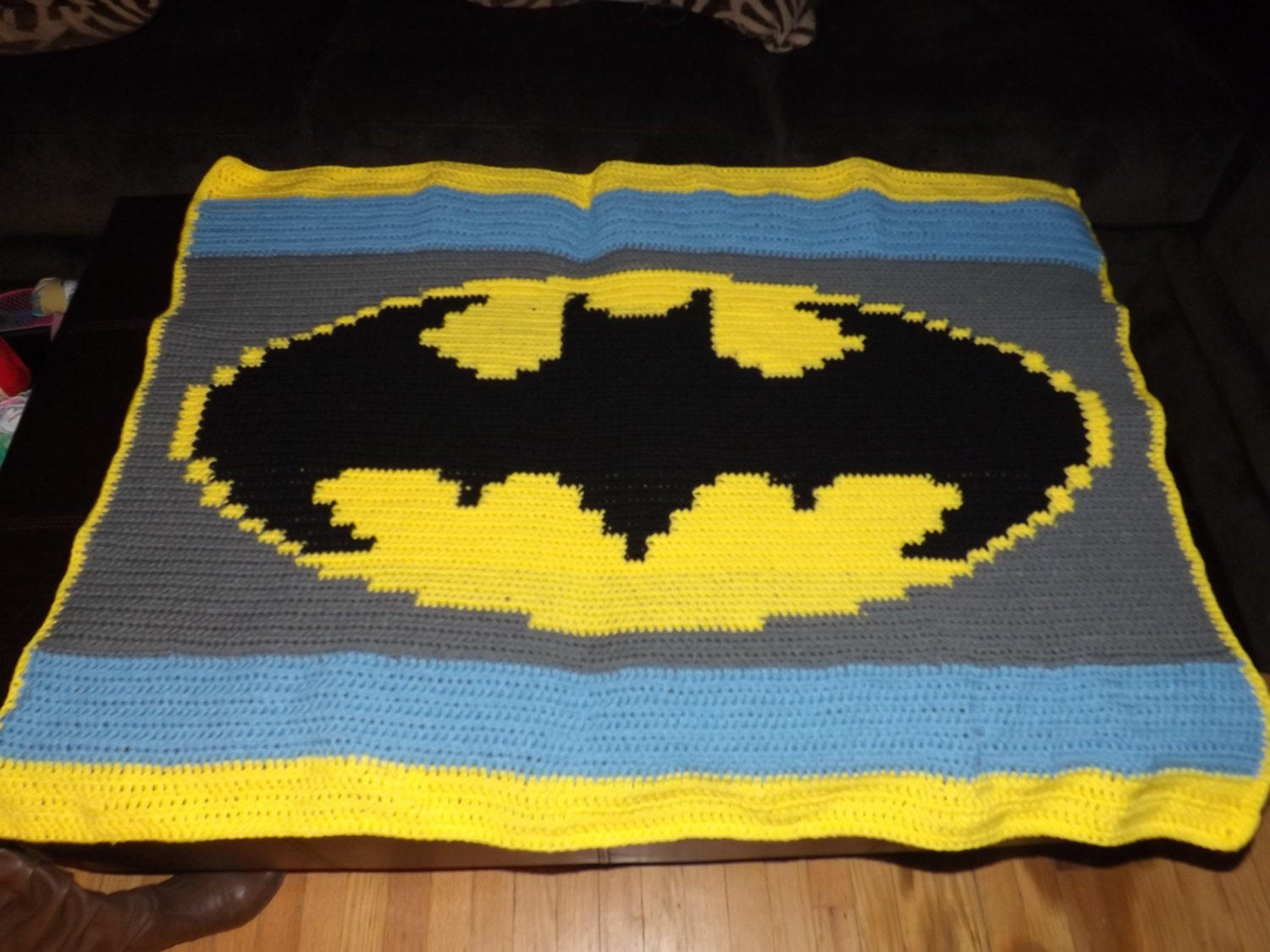 Batman Baby Afghan PATTERN ONLY