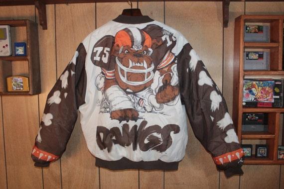 vintage cleveland browns chalk line big jacket fanimation