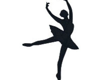 """BUY 2, GET 1 FREE S0001 Ballerina Silhouette Machine Embroidery Design (#10) - Ballet, Dance - 5 Sizes Including Mini - 2"""", 3"""", 4"""", 5"""", 6"""""""