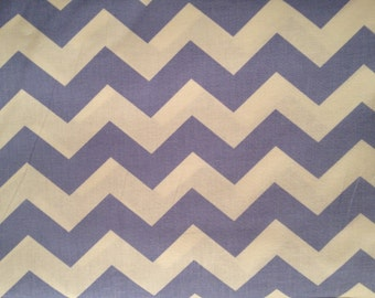 "1"" Chevron Zig Zag Light Blue and White by the yard"