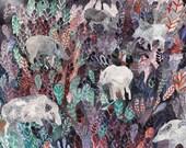 Foraging Boar - Original painting