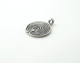 Sterling Labyrinth Pendant